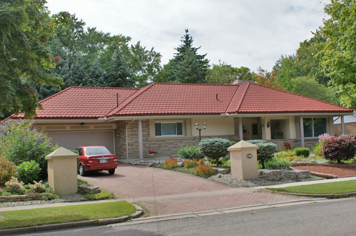 Charming Brighten Up A Beige Home With A Red Steel Tile Roof From Metal Roof Outlet,
