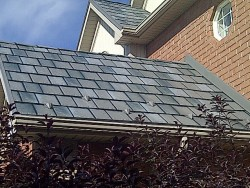 image of metal tile roof