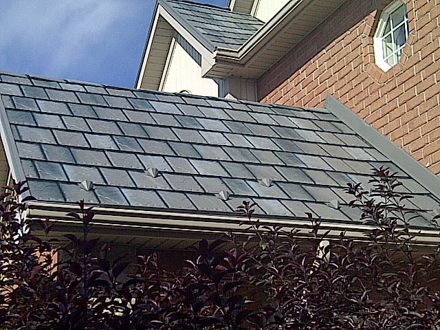 image of metal tile roof
