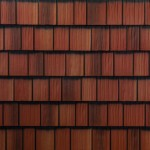 sample image of Arrowline Shake in Classic-Red-Blend available from Metal Roof Outlet