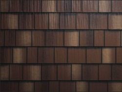 sample image of Arrowline - Shake style metal roof in Royal-Brown-Blend available from Metal Roof Outlet