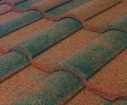 Barrel Vault Stone Coated Metal Tile Roof - Cypress