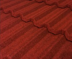 Pacific Tile Stone Coated Metal Tile Roof - Spanish Red