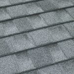 TilCor Concealed Fastening metal roof shingles in the colour Arctic Grey