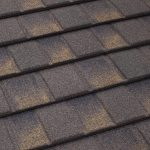 Grey and brown TilCor Concealed Fastening shingle in the colour Barkwood