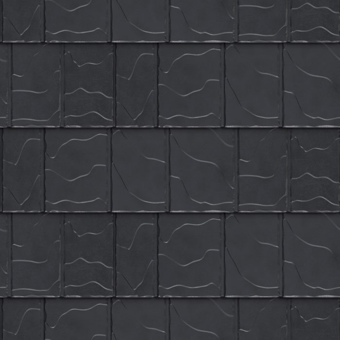 Vicwest True Nature North Ridge Slate Metal Tile in the colour Shadow Deep Grey
